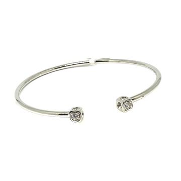 925 Sterling Silver CZ Diamond Bracelet MGA - BRS0328