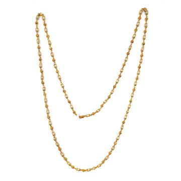 1 Gram Gold Forming Moti Mala Chain MGA - MLE0022