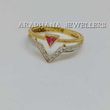 916 Gold Antique Pink Stone Ladies Ring