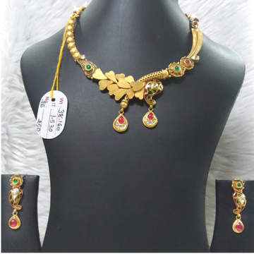 22KT Gold Antique Necklace Set