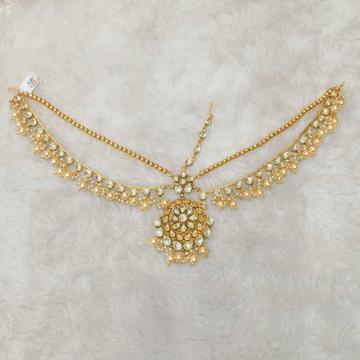 Designer antique golden and dabbi kundan's mathapatti1105