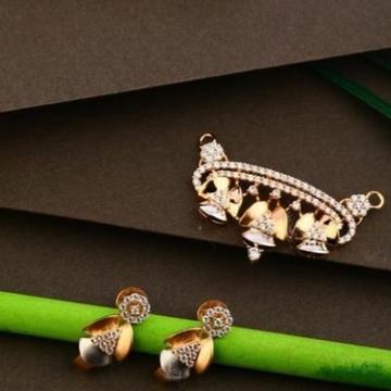 18 carat rose gold ladies pendants set RH-PS464