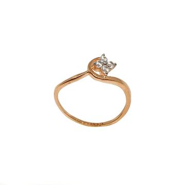 18K Rose Gold CZ Diamond Ring MGA - LRG1111