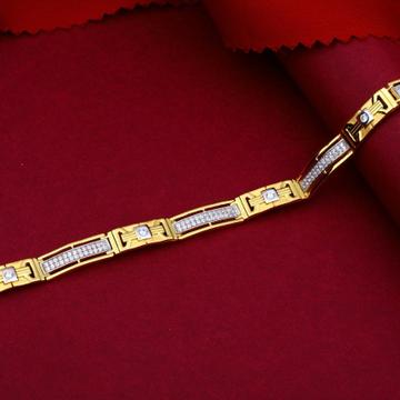 22KT Gold Striking Stone Bracelet For Men