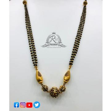 22 carat gold antique ladies mangalsutra Rh-MN194