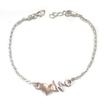 925 Sterling Silver Heart Shape Bracelet MGA - BRS0300