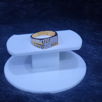 22KT/916 Yellow Gold Fortitude Ring For Men