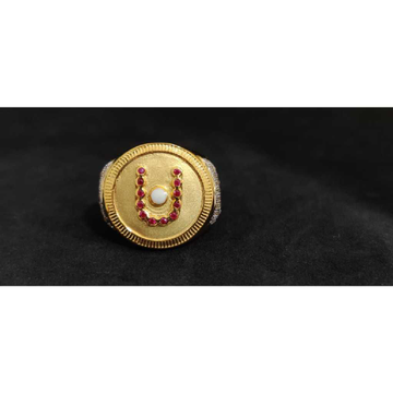 22k Gents Fancy Swaminarayan Ring Gr-27365