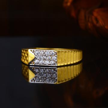 22KT Gold Light Weight Plain design Hallmark Ring