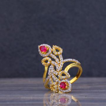 916 Gold Cz Long Ring LLR82