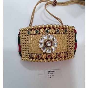 916 Antique Gold Jadtar Bajubandh by