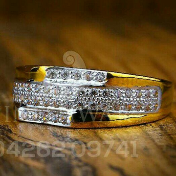 Fancy Gold Cz Ring 22kt