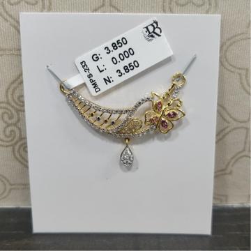 916 diamond pendant mangalsutra DMPS233