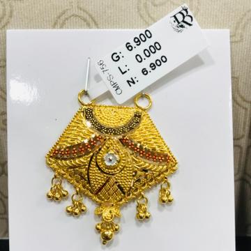 22 carat gold mangalsutra RH-MN785