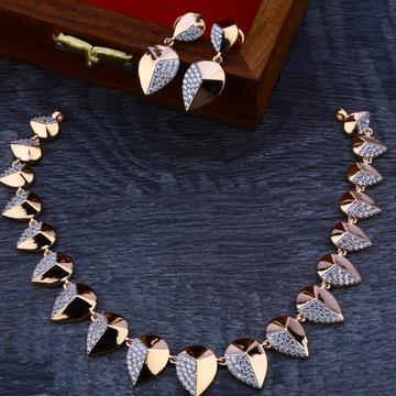 18ct   Rose Gold Hallmark  Stylish  Necklace Set RN70