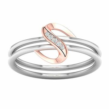 18k white gold rose gold ring mga - rdr0031