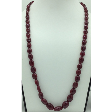 Natural Red Ruby Oval Aweja 1Layers Necklace JSR0...