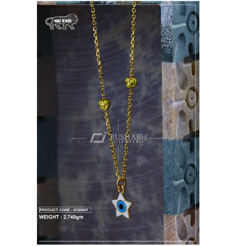 18 carat gold Kids chain pendent star icg0007 by