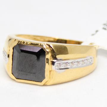 ring 916 hallmark gold black daimond-6747 by