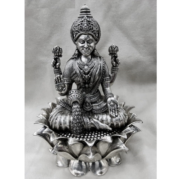 PURE SILVER IDOL OF GODDESS LAKSHMI IN 3D AND HIGH... by