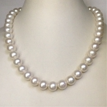Freshwater White Round Pearls Necklace