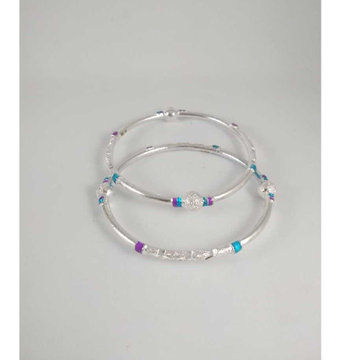 Silver Fancy Bangles. NJ-B01052