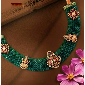 22KT/ 916 Gold traditional wedding Rubies Net Neck... by