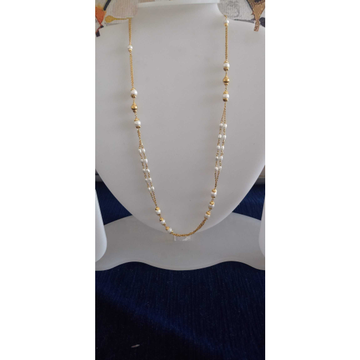 22 Ct Gold White Awesome Mala