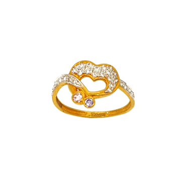 22K Gold Heart Shaped Ring MGA - LRG0070