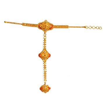 22k gold kalkatti pocha bracelet mga - gp0024