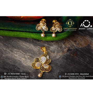18K Gold Fancy Pendant Set  by Anant Orna