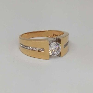 18 Kt  Rose Gold Gents Branded Ring by