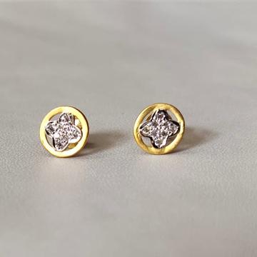 22K cz Gold earring