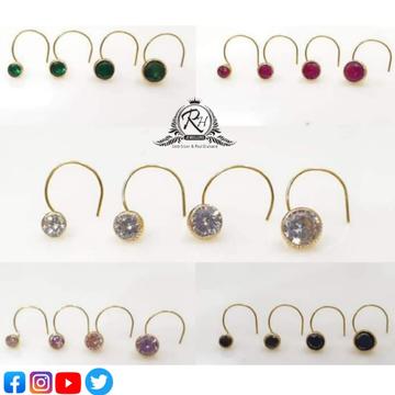 18 carat gold single stone daimond nosepin RH-NP602