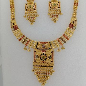 916 gold kalkatti design work short set by Vinayak Gold
