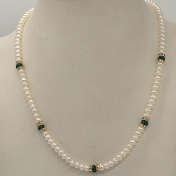 Freshwater White Flat Pearls SingleLayer MalaWit...