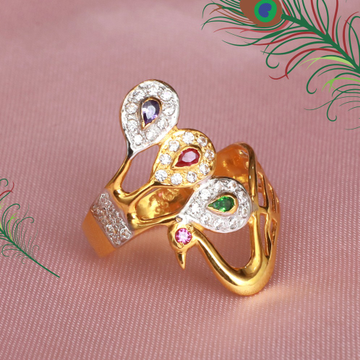 916 Gold Peacock Design ring PJ-R031