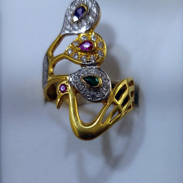 916 Gold Modern Ring PJ-9696 by Parshwa Jewellers
