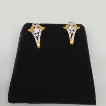 916 Gold CZ Designer Earring MJ-E015