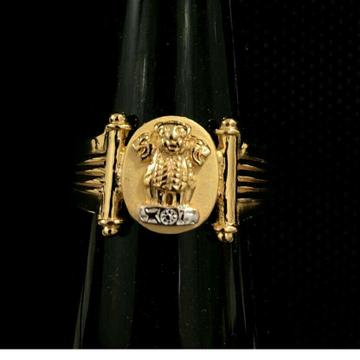 916 gold plain ashok stambh KDJ - R041