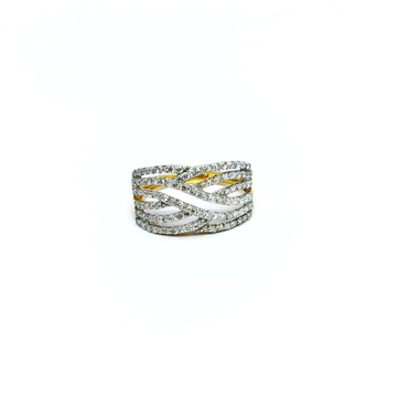 DESIGNING FANCY GOLD REAL DIAMOND RING