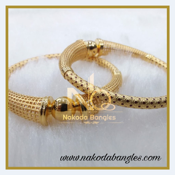 916 Gold Pipe Bangles NB-372