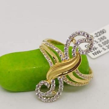 916 Gold CZ classic Ladies Ring RH-LR59