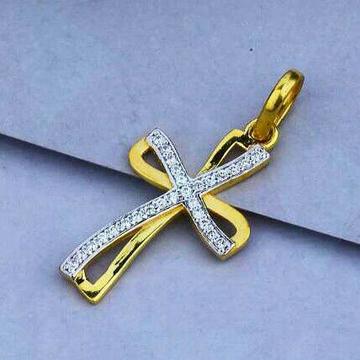22ct Cz Fancy Cross Pendant