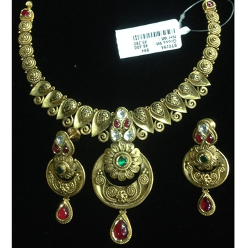 916 gold bridal antique set
