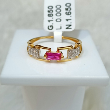 22 kT PINK DIAMOND RING by