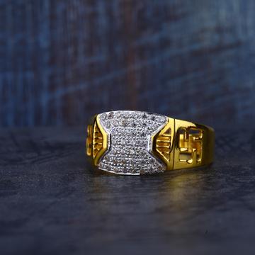 Gold Mens Cz Ring-MR189