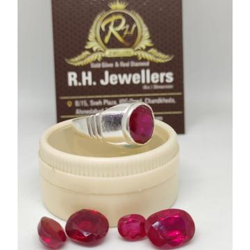 Silver manek stone ring rh-sr608
