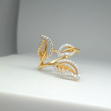 18KT Yellow gold flower shape special occasion ring for Ladies LRG0528