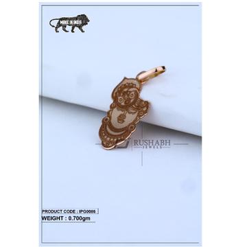 18 Carat Italian pendent rose gold god shape ipg0086